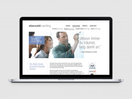 Ebersold Coaching – Webdesign