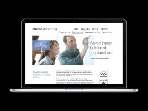 Ebersold Coaching – Webdesign
