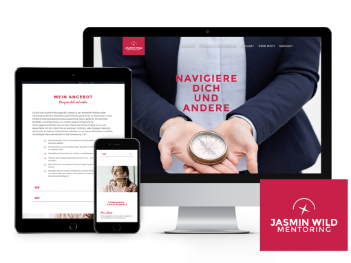 Jasmin Wild Mentoring – Logo & Webdesign