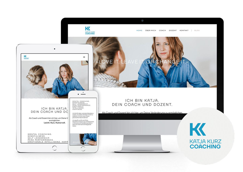 Katja Kurz Coaching Webdesign Markenentwicklung